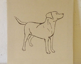 Labrador Canvas - Chocolate on Canvas