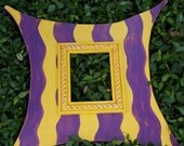 LSU Wacky Picture Frame PURPLE and YELLOW