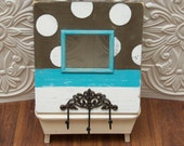 4x5 POLKA DOTTED frame with HOOKS