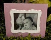 Blush Pink and White Shabby Chic  8x10Picture Frame