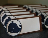 Whale Place Cards, Whale Seating Cards, Whale Food Labels, Whale Party Supplies, Whale Theme, Whale Baby Shower, 12 Pcs