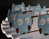 Owl Food Labels, Owl Place Cards, Seating Cards, Owl Baby Shower, Owl Theme, 12 Pcs