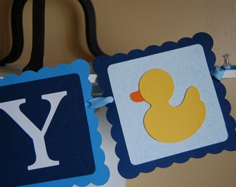 It's A Boy Banner, Baby Shower Banner, Rubber Duck Banner, Rubber Duck Shower, Rubber Duckie Theme
