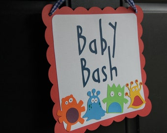 Monster Door Sign, Monster Party, Monster Party Supplies, Birthday Door Signs, Baby Bash