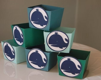 Whale Candy Cups, Whale Favors, Whale Theme, Whale Baby Shower, 12 Pcs
