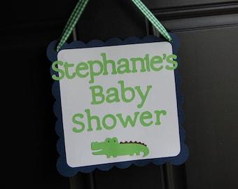 Alligator Welcome Sign, Alligator Theme, Alligator Door Sign, Alligator Baby Shower,