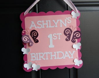 Butterfly Door Sign, Butterfly Welcome Sign, Butterfly Birthday Party, Butterfly Party Decorations, Welcome Sign