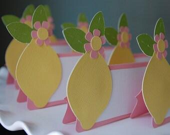 Pink Lemonade Food Labels, Place Cards, Pink Lemonade Theme, Pink Lemonade Birthday, 12 Pcs