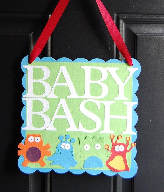 Monster Door Sign, Monster Party, Monster Party Supplies, Birthday Door Signs