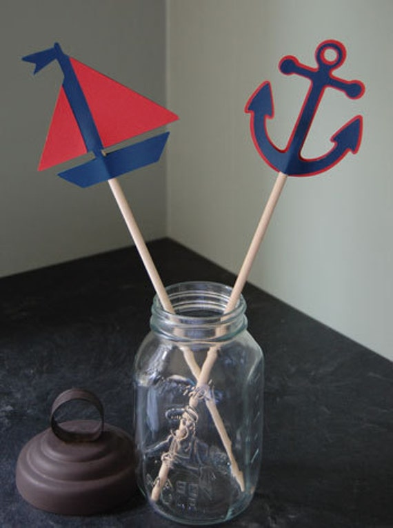 nautical centerpieces 8 pcs sailboat and anchors