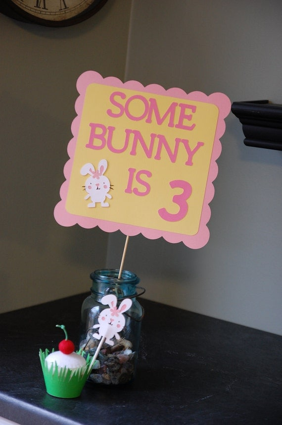Bunny Birthday Sign, Bunny Birthday, Some Bunny, Birthday Sign,