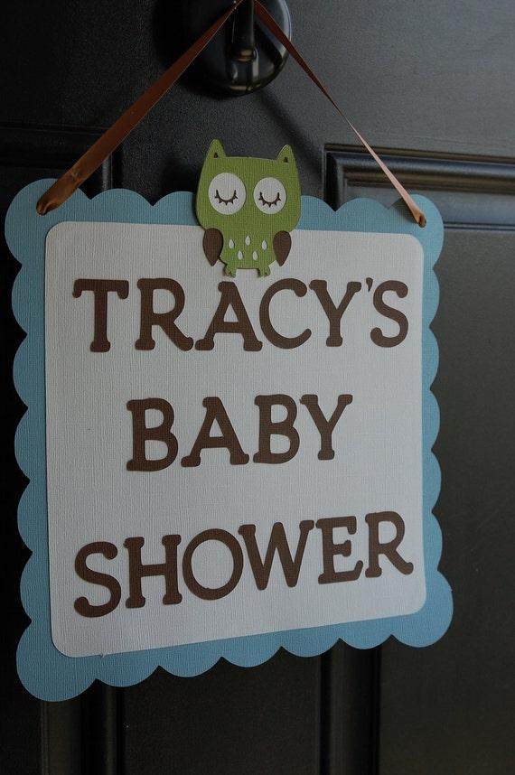 Owl Door Sign, Owl Baby Shower, Owl Birthday, Owl Party Supplies, Door Sign, Welcome Sign