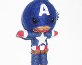 Captain America The Avengers String Doll Voodoo Gang Keychain Lucky Charm