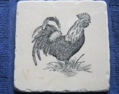 Rooster Ceramic Tile Coasters Set of 4