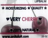 Organic Very Cherry Lip Balm