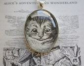 Cheshire Cat - Alice in Wonderland Illustration Necklace