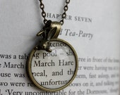 Alice in Wonderland 'March Hare' Charm Long Necklace