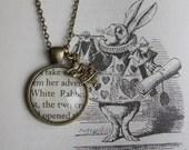 Alice in Wonderland 'White Rabbit' Charm Necklace