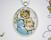 Beatrix Potter 'Tom Kitten' Book Page Illustration Necklace