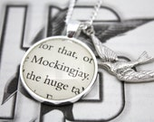 Hunger Games 'Mockingjay' Book Page Necklace