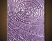 40% SALE Painting Purple Light Lavender Abstract Acrylic Sculpture Vortex of Creation Amethyst 20x24 High Quality Original Modern Fine Art