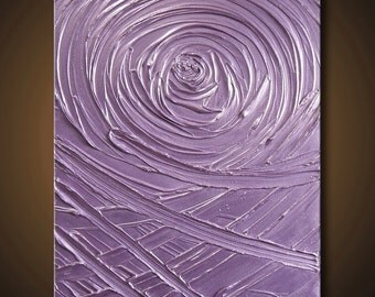 40% SALE Painting Purple Light Lavender Abstract Acrylic Sculpture Vortex of Creation Amethyst 20x24 High Quality Original Modern Fine Art