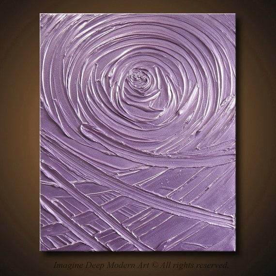 Painting Purple Light Lavender Abstract Acrylic Sculpture Healing Vortex of Creation Amethyst 20x24 High Quality Original Modern Fine Art
