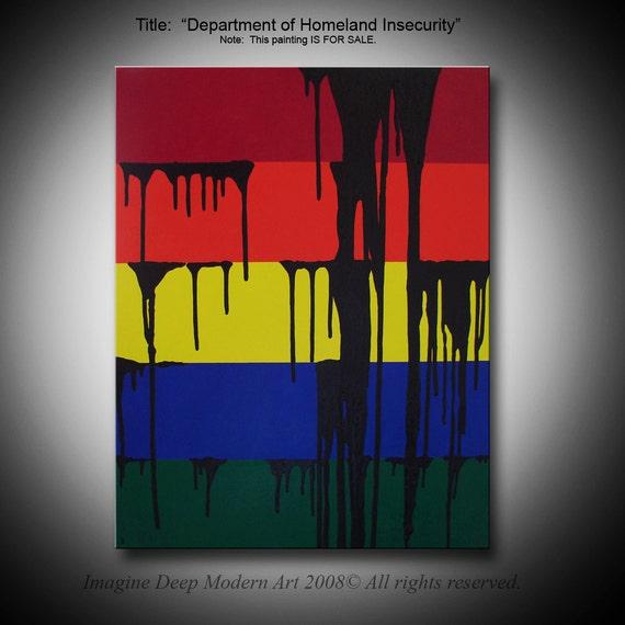 "Painting - 22"" x 28"" Original Modern Art - Department of Homeland Insecurity"