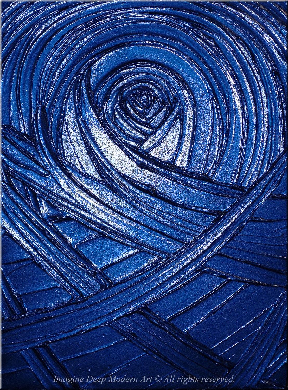 Blue Painting Indigo Royal Navy Blue Healing Sapphire