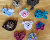 Crocheted Fridgies/ Appliques pattern PDF