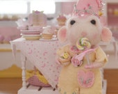 Sweet Petite Clara a Needle Felted Mouse