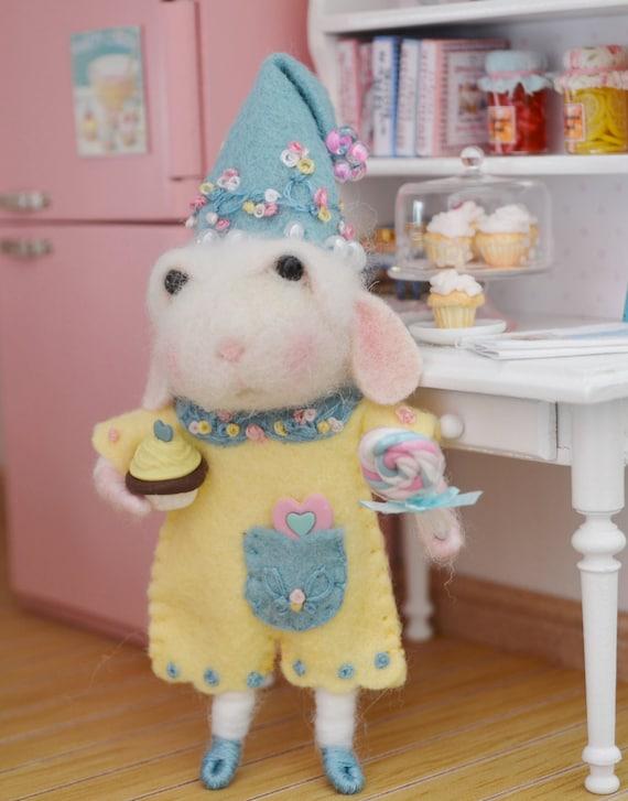 Sweet Petite Chloe a Needle Felted Bunny