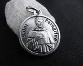 St. Peregrine Catholic Medal with Prayer on Back - made in Italy