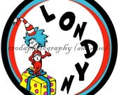 Personalized Dr. Seuss Thing 1 & Thing 2 Wall Decorations