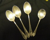 Silver Plate Set of 4 very old great condition Spoons Australia