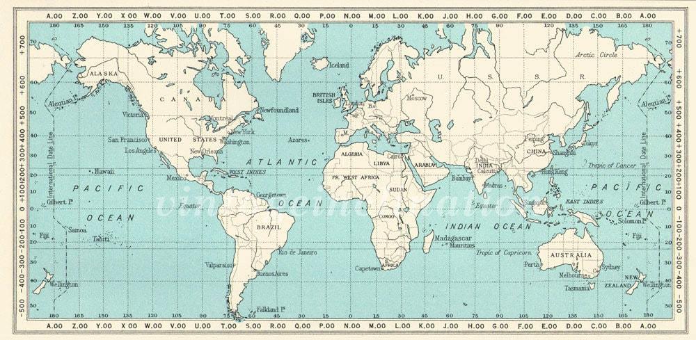 Vintage World Atlas 82
