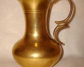 Small Brass Pitcher with Handle Vintage Made in India