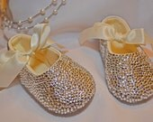 Baby Rhinestone Shoes Swarovski Crystal leather shoe
