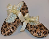 Leopard Print Baby Rhinestone Shoes Swarovski Crystal Baby Shoes Baby Custom Shoes Trendy Baby Shoes Baby Leather Shoes High End Fashion