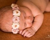 Newborn Headband..Baby Girl Headband..Baby Headband - newborn halo - baby headband