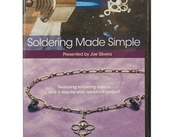 SOLDERING MADE SIMPLE dvd Video Tutorial - Presented by Joe Silvera - Learn soldering basics and necklace project. Instructional Video