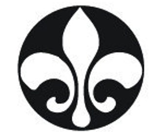Design Stamp- FLEUR DE LIS- Solid - Elite  5mm - Create Charms, Decorate Necklaces Bracelets Earrings Metal Stamping