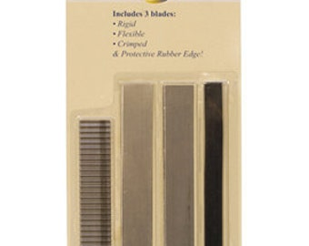 PRO CUTTING BLADES Set for Metal Clay- Make Clean Precise Cuts - Includes Rubber Grip- 3 Blades - Metal Clay Tool