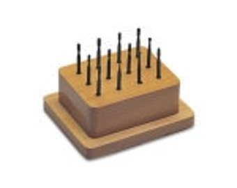 SETTING BUR SET 12 Pc  Wood Stand For Setting Stones in Tubing, etc. - Jewelry Tools for Metal Work