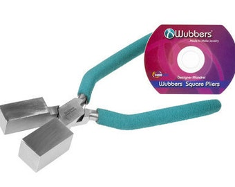 WUBBERS Jumbo SQUARE MANDREL Pliers - Make Square Jump Rings - Jumbo Square Coils - Tubes and More with this Metal Working Jewelry Tool