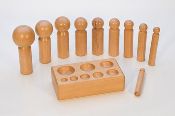 WOOD DAPPING SET - Large with 10 Punches - Make Cupped Metal Discs and More