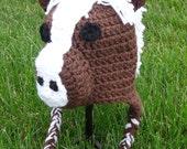 Harry the Horse Crochet Beanie with Earflaps