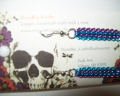 Purple and Blue Chain Earrings