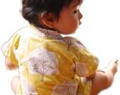 Baby Clothing Baby Kimono Baby Top Shirt - Tree Of Life- Joel Dewberry 100% Printed Cotton - Sizes from Newborn to 24 Mo