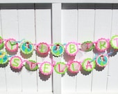 2 Deluxe Birthday Banners- Happy  Birthday Banner and Cute Name Banner